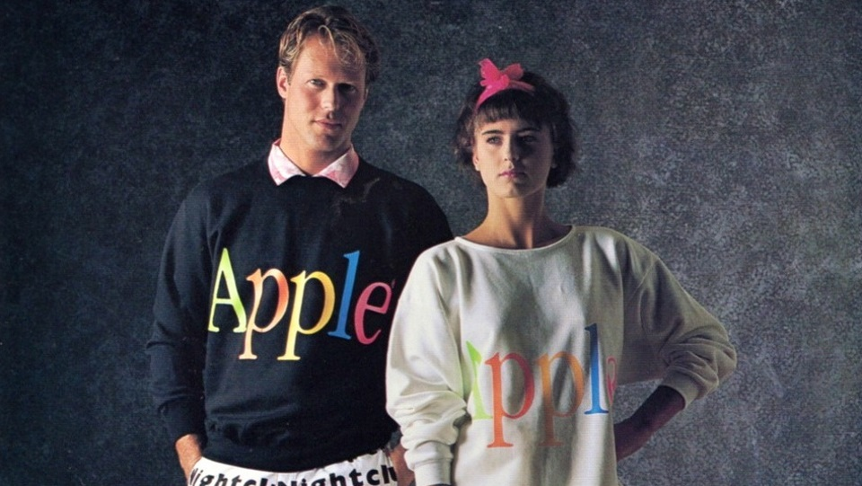 Apple sweaters 1980s